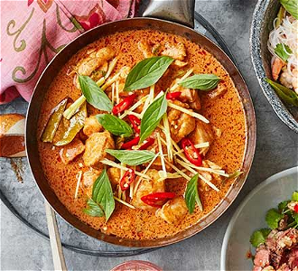 Foto Red curry bief