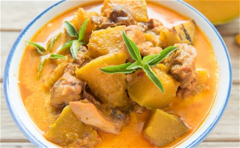 Foto Thai pompoen curry
